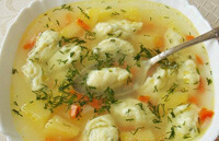 Суп для ребенка с заварными клецками
