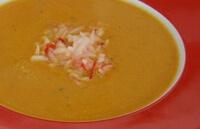 Сладкий яблочный суп с рисом для ребенка