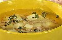 Картофельный суп-пюре с гренками для ребенка