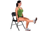 Упражнение от варикоза на стуле - вращение стопами