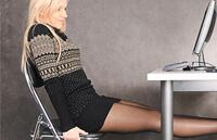 Упражнение от варикоза на стуле - поднятие ног
