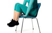 Упражнение от варикоза на стуле - поднятие на носки
