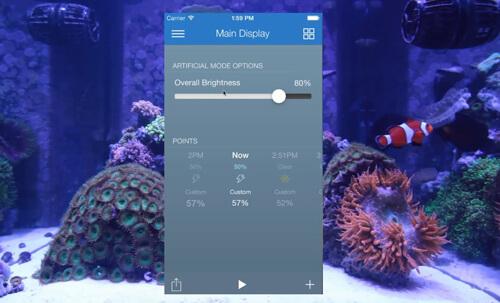 Аквариумный контроллер EcoTech ReefLink управляет погодой.