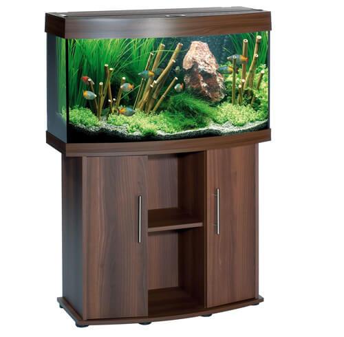 Прямоугольный аквариум с изогнутым (выпуклым дисплеем).
